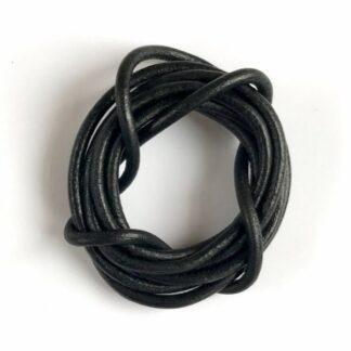 Strups - Lædersnor Sort - Tilbehør