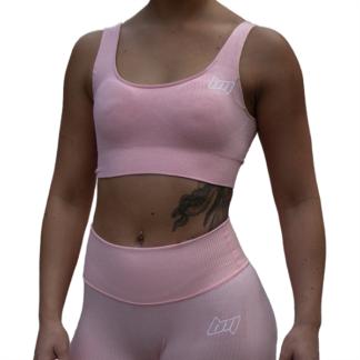 BM Seamless Ribbed Sports Bra Pink