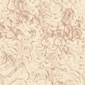 Beige b?lge kaligrafi af Tine Nordahl Grosen