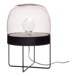 Hübsch - Gulvlampe, metal/glas, sort Brun