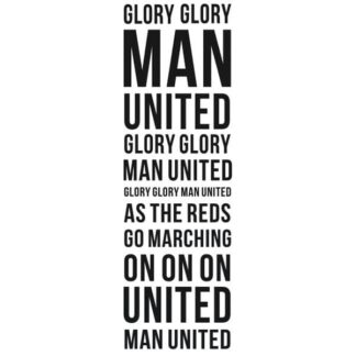Manchester United wallsticker. Glory Glory Man United. 160x50cm