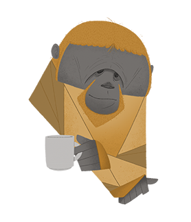 Morning coffee Orangutan af ThomasWoody