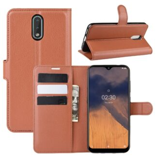 Nokia 2.3 - Læder cover / pung - Brun