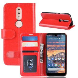 Nokia 4.2 - Læder cover / pung - Rød