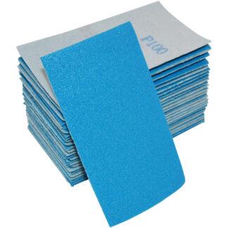Sandpapir i ark 70x125mm velcro uden huller - 50 stk Korn P150