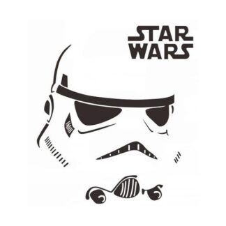 Star Wars wallsticker. Stormtrooper maske. 41x32cm