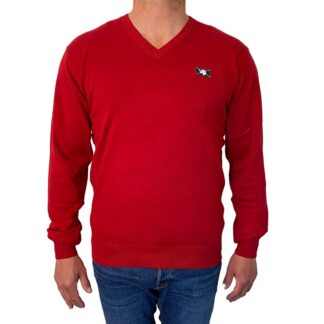 Sweatshirt Wilford Knit fra Vinson Camp i Jester Red
