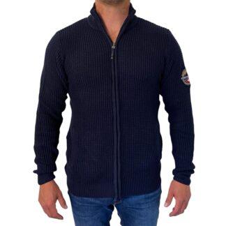 Waverly Knit Sweatshirt med lynlås fra Vinson Camp - Dark Sapphire