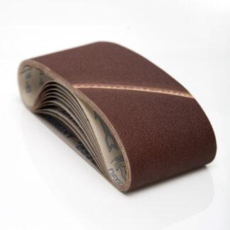 10 stk 75 x 575 slibebånd til Metabo 4350 båndsliber Korn P120