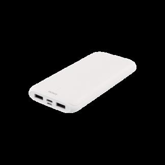 10000mAh Dual USB PowerBank samt USB-C, hvid