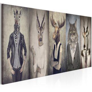 Billede - Animal Masks - white / 120x40