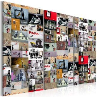 Billede - Art of Collage: Banksy III - colorful / 120x80