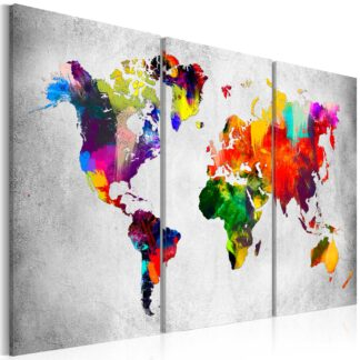 Billede - Artistic World - Triptych - grå / 120x80