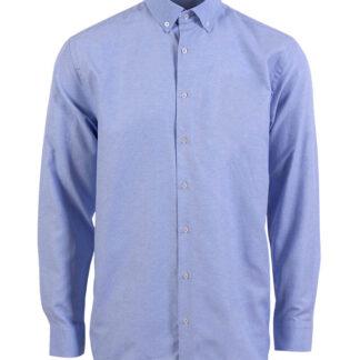 CARNÈT Ermaherre skjorte i slim fit Light Blue Melange 2XL