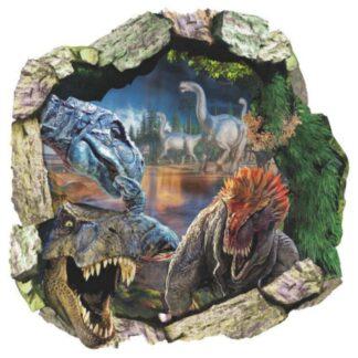 Dinosaurus wallsticker. Hul i væggen. 50x50cm.