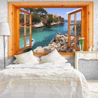 Fototapet - Mediterranean Landscape - brun / 300x210