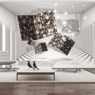 Fototapet - Modern Art - grå / 300x210