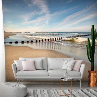 Fototapet - Sea Breeze - white / 300x210