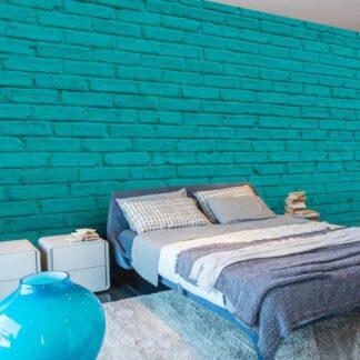 Fototapet - Sea wall - blå / 300x210