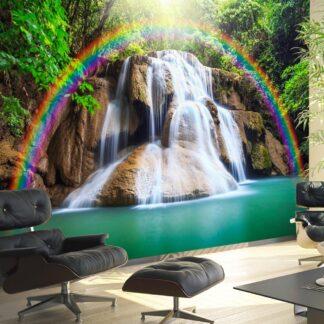 Fototapet - Waterfall of Fulfilled Wishes - brun / 300x210
