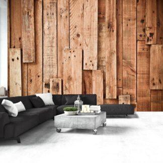 Fototapet - Wooden Fantasy - brun / 300x210