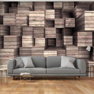 Fototapet - Wooden Finesse - brun / 300x210