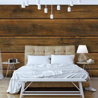 Fototapet - Wooden Harmony - brun / 300x210