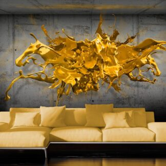 Fototapet - Yellow Splash - Sort / 300x210