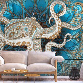 Fototapet - Zen Octopus - colorful / 300x210