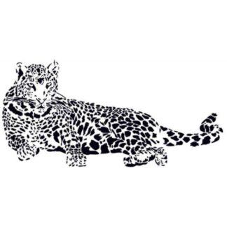 Leopard wallsticker. 110x52cm