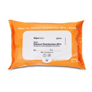Plum Ethanol Disinfection Wipe Small, desinfektionsklud, 25 stk.