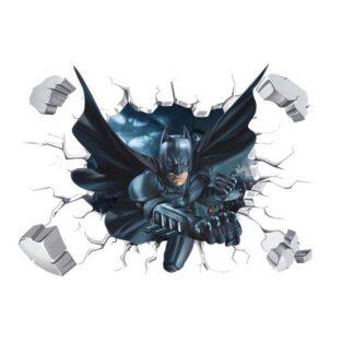 Batman wallsticker. Batman smadrer igennem væggen. 50x70cm