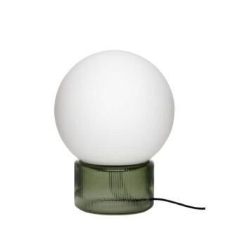 Bordlampe, glas opal/ grøn Grå