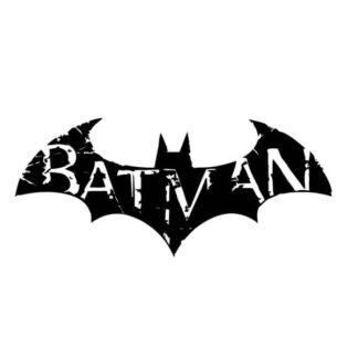 Rustikt Batman logo. Flot Batman wallsticker til væggen. 57x25cm