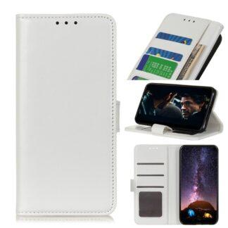Motorola Edge - Læder cover / pung - Hvid