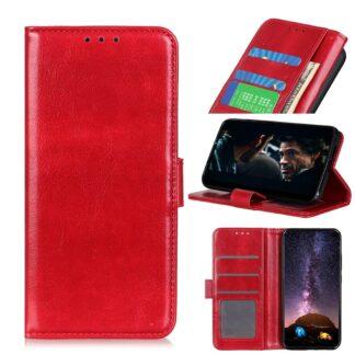 Motorola Edge - Læder cover / pung - Rød