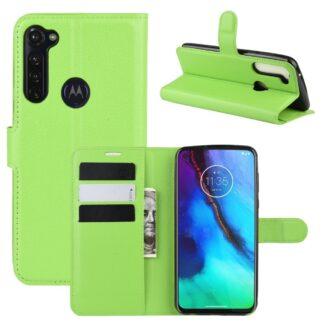 Motorola G Stylus / G Pro - Læder cover / pung - Grøn