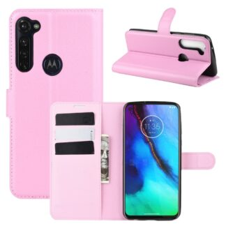 Motorola G Stylus / G Pro - Læder cover / pung - Pink