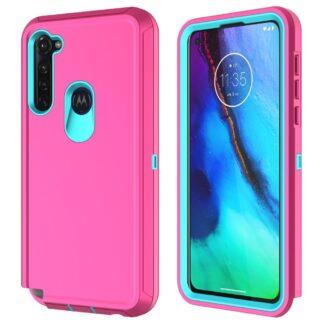 Motorola G Stylus - Shockproof Hybrid cover - Pink/blå