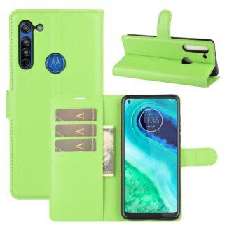 Motorola G8 - Læder cover / pung - Grøn