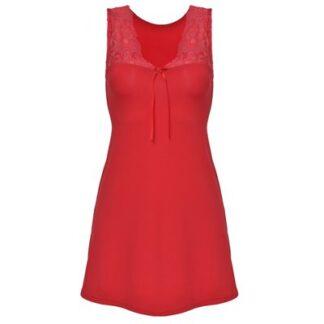 Rød Afra natkjole