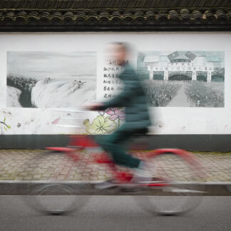 Red Bicycle af Julie Aucoin