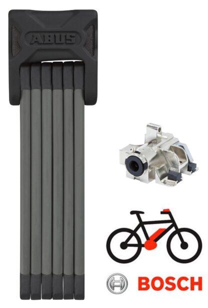 Abus Bordo 6015+Bosch DT EL-Cykel Batterilås til skrårør