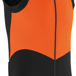 Assos Cykelvest tiburuGiletEquipe Spring/Fall Vest, Sort/Orange