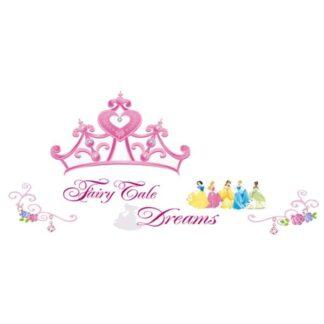 Fairy Tale Dreams. Flot wallsticker med prinsesser, smykker mm.