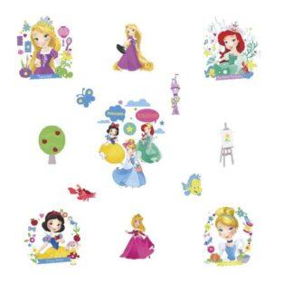 Flot Prinsesse wallsticker. 7 forskellige prinsesse motiver.