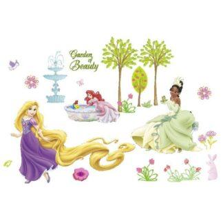 Flot wallsticker til pigeværelset. Prinsesserne i haven.