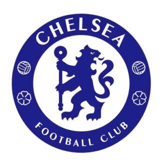 Fodbold wallsticker. Stort blåt Chelsea Logo. 60x60cm