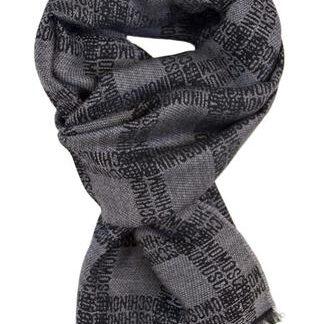 Gråt tørklæde i 100% blød uld fra Moschino