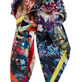 "Silketørklæde ""Butterflies Eden"" Lacroix"